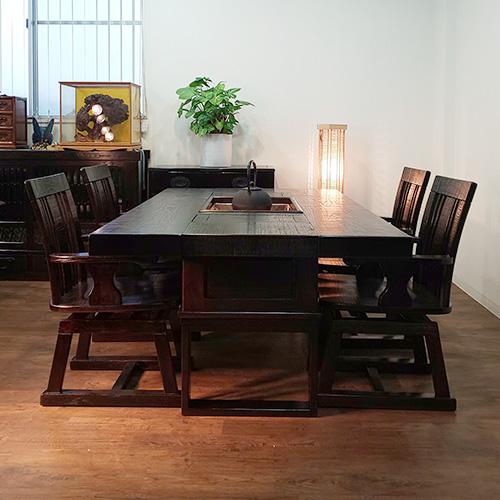 鋸目囲炉裏セット+民芸箪笥+民芸サイドボード+行燈照明